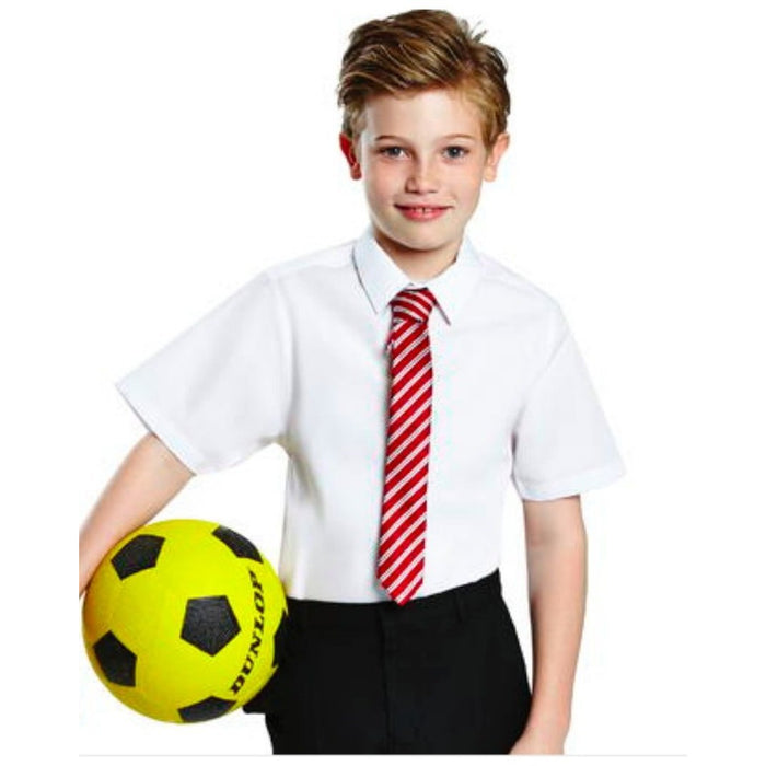 Generous Fit TWINPACK Boys School Shirt Short Sleeve Non Iron Easy Care Ages 3-16