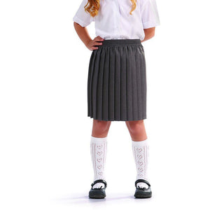 Girls School Box Pleated Elasticated Skirt Formal Ages 2 - 18 + Adult Sizes (7 Colours)