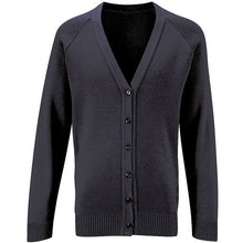 Load image into Gallery viewer, Girls School Knitted Cardigan Uniform Age 3 4 5 6 7 8 9 10 11 12 13 14 15 16 + Adult Sizes