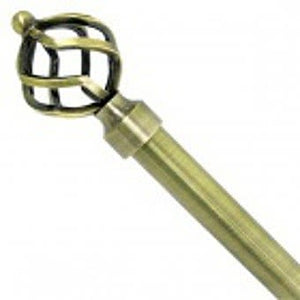 Deville Brassworks Antique Brass Curtain Pole 1.85 - 3.6m