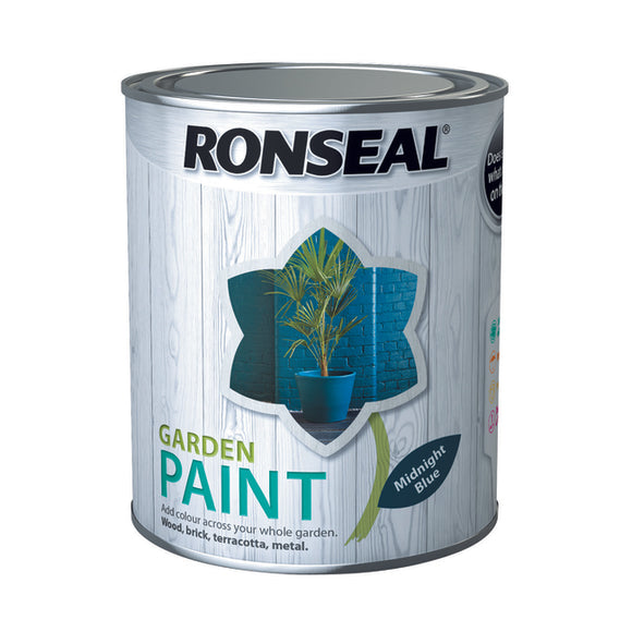 Ronseal Garden Paint 750ml Midnight Blue