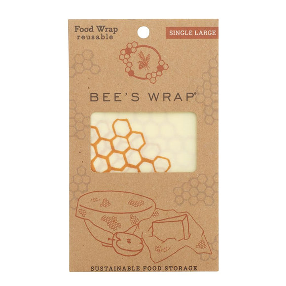 Bees Wrap Reusable Food Wrap Single Large