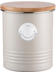 Typhoon 1 Ltr Living Collection Putty Tea Canister