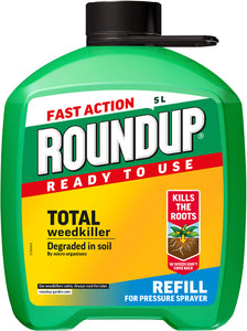 Roundup Weedkiller Pump'N'Go Ready To Use Refill 5L