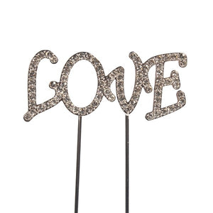 "Diamante ""Love"" Cake Decoration"
