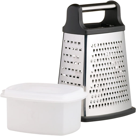 MasterClass Stainless Steel Box Grater with Container, 23 cm