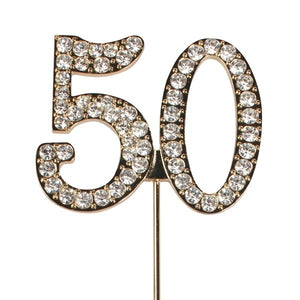 Diamante No. 50 Cake Decoration