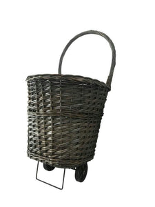 Wicker Cart Grey with Liner