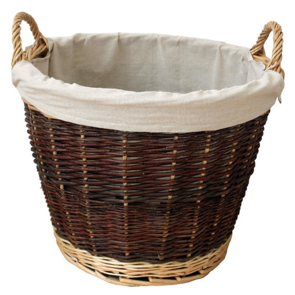 Large Round Wicker Basket W/ Jute Liner