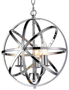 BESCA CHROME 3L ROUND PENDANT LIGHT