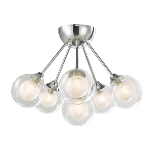 ACQUA CHROME GLOBE SEMI FLUSH FITTING