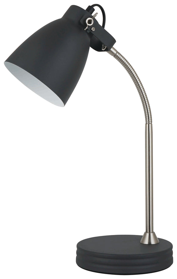 DARK GREY ANGLE POISE TABLE LAMP