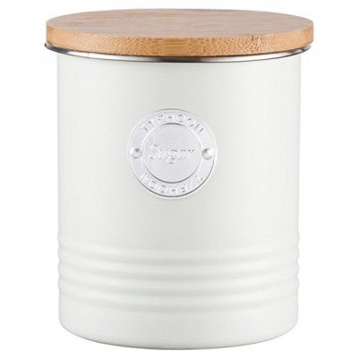 Typhoon 1 Ltr Living Collection Cream Sugar Canister