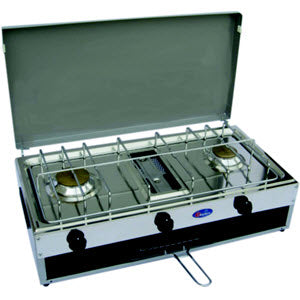 CF Parker Double Burner Gas Stove and Grill