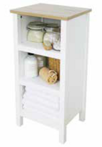 White Aston 3-Tier Shelf Unit