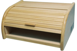 Apollo Beech Roll Top Wooden Bread Bin