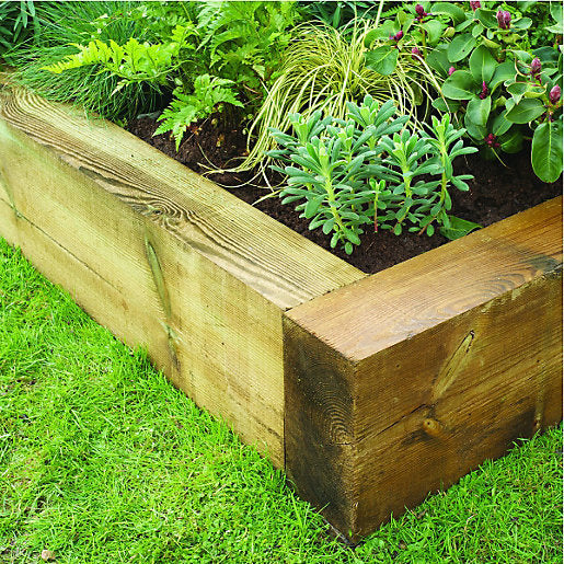 Railway Sleepers Treated 200mm x 100mm x 2.4m
