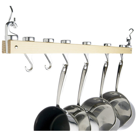 Master Class Ceiling Mounted Wooden Pot Rack