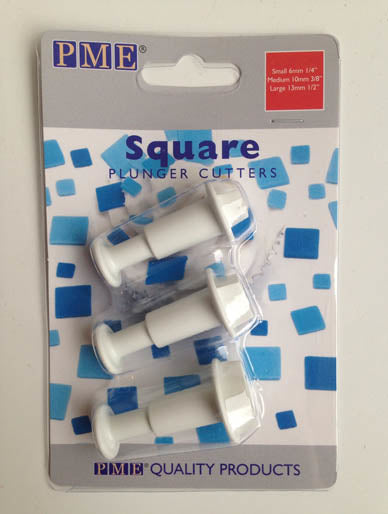PME Square Plunger Cutter set of 3