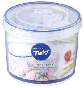 Lock & Lock 940ml Twist Lock Round Container