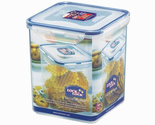 Lock & Lock 2.6Ltr Square Food Container