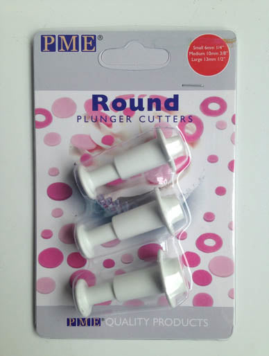 PME Round Plunger Cutter Set of 3