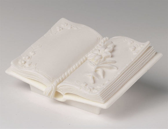 Open Book with Rose Resin Cake Decoration