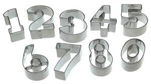 Numbers Cookie Cutters Set In Tin (KCLMNUM10PC)