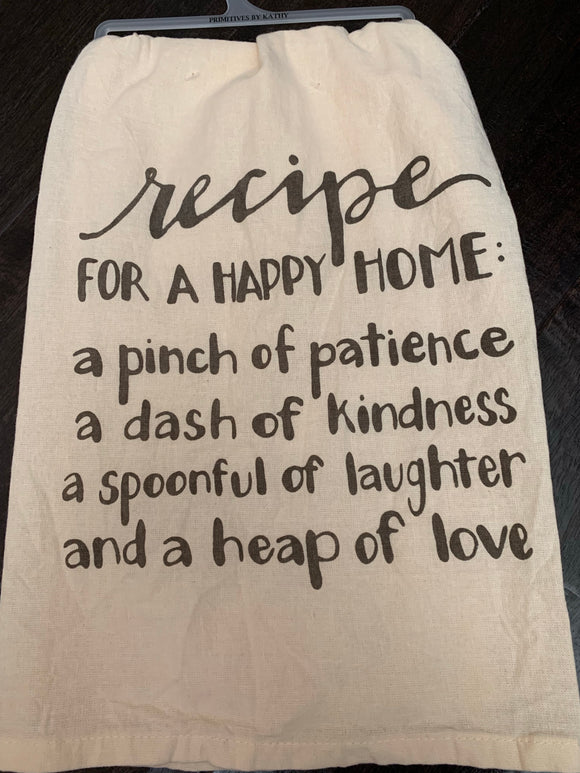Happy Home Dish Towel