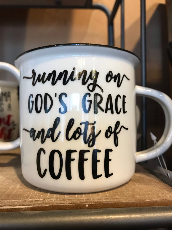 Grace and Coffee Cup