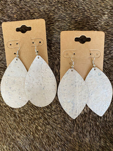 Pearl White Cork Earrings