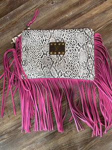 Ashley Fringe Wristlet