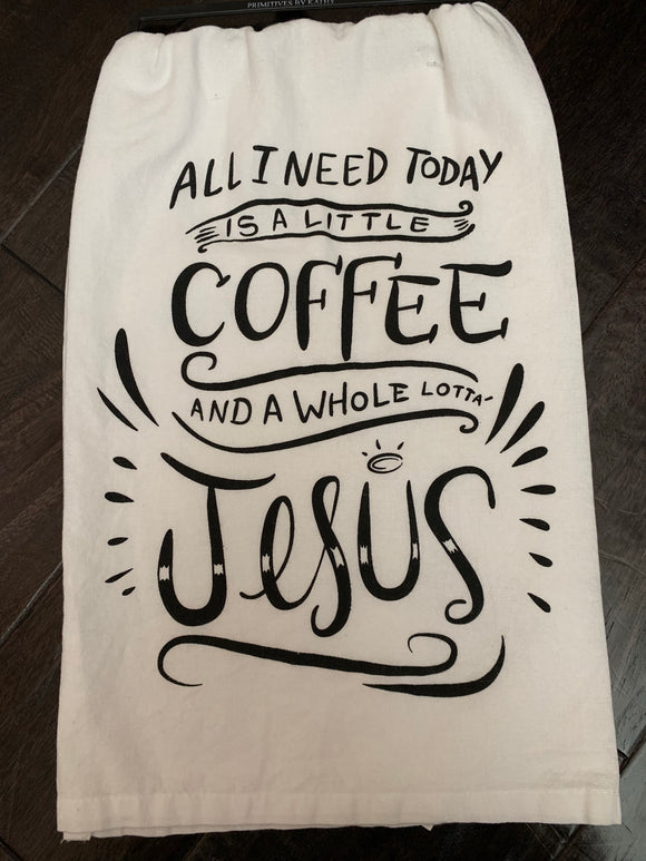 Coffee and Jesus Dish Towel