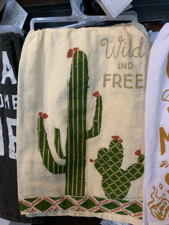 Wild And Free Dish Towel