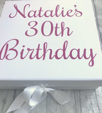 Personalised Milestone Birthday Gift/Memory Box/Keepsake Box