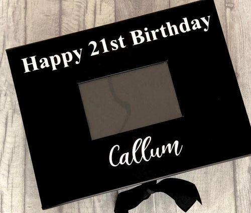 Personalised Birthday A4 Photo Keepsake Gift Box