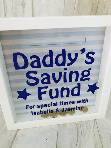 Fathers Day Personalised Money box Daddy's Saving Fund Dad Gift