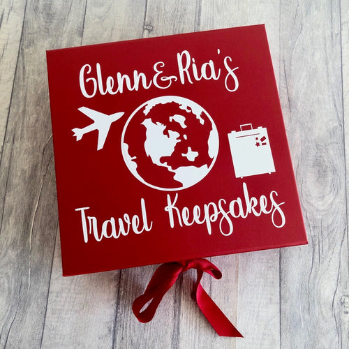 Personalised Travel memory / keepsake / gift box