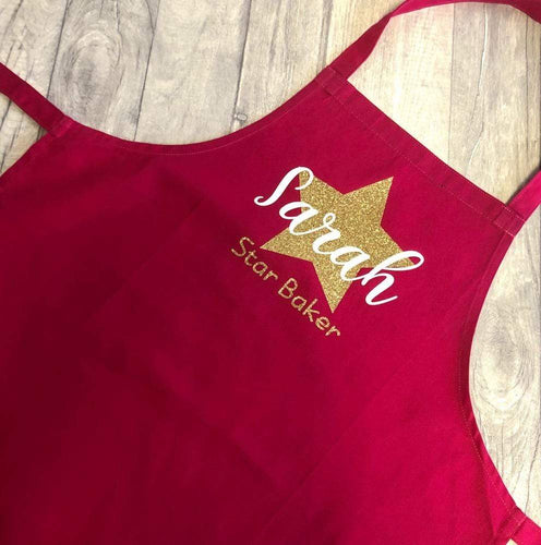 Personalised Star Baker Adult Baking Cooking Apron