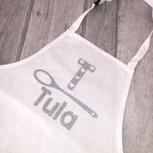 Personalised Initial/Spoon Kids Baking Cooking Apron