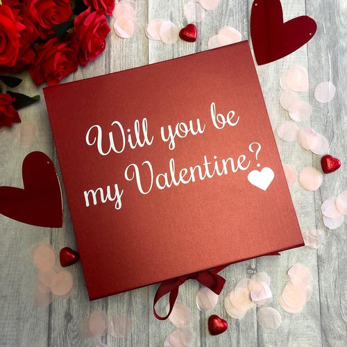 Will You Be My Valentine? Red Keepsake/Gift box Present