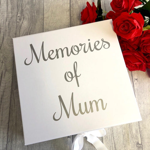 Memories of... personalised family member keepsake ribbon box