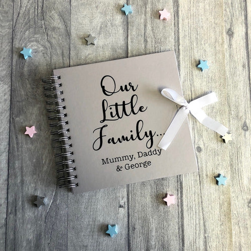 Our Little Family... Personalised Family / Baby / Memories, Photo Scrapbook