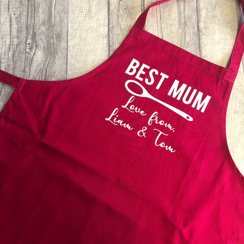 Personalised Best Mum Mother's Day Baking Cooking Apron