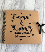 Personalised Honeymoon Memories Scrapbook