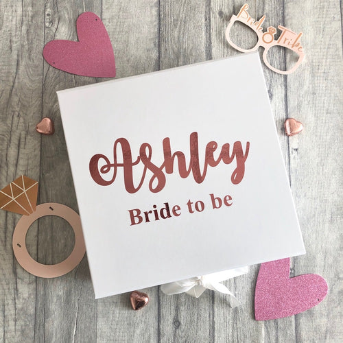 Personalised Bride to be Wedding memory/keepsake box