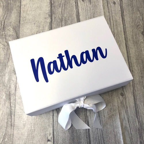 Personalised name small Keepsake Memory Gift Box