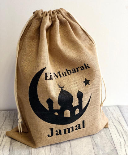 Eid will be extra special this year with our new and personalised Eid Mubarak sacks which are perfect for filling with presents and gifts.