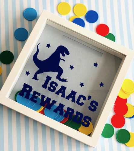 Personalised Children's Dinosaur Encouragement Reward Frame