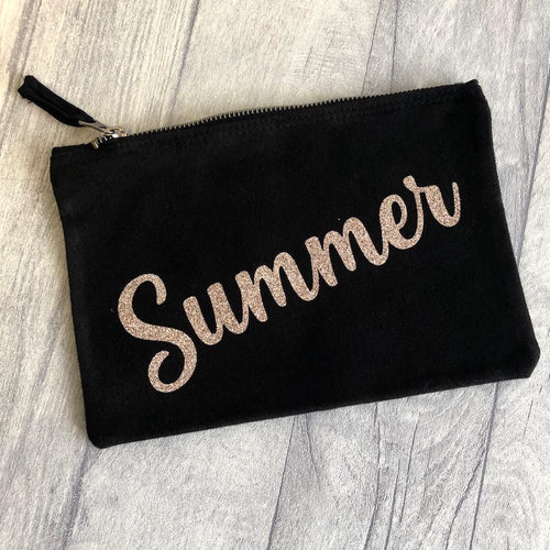 Stunning personalised pencil cases, perfect for all school equipment as very spacious. Could also be used as a make up bag. Able to personalise with any name and the bag comes in a range of colours. Could also be used as a make up bag or toiletry bag.
